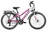 Kinderfahrrad 24 Zoll pink - Yazoo Devil 2.4 girl Jugendrad - Shimano Schaltung 21 Gänge, Licht, Gepäckträger