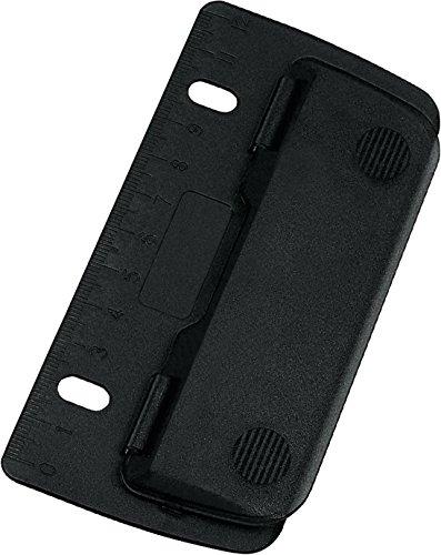 Wedo® Taschenlocher/mobiler 2fach-Locher aus Kunststoff mit 12-cm-Skala (1 Locher, Schwarz)
