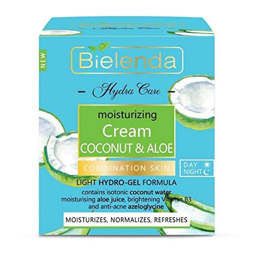 Bielenda Hydra Care Kokosnuss und Aloe Gesichtscreme Tag/Nacht Fettige Haut 50ml