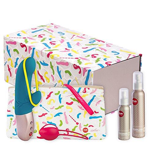 Fun Factory TRUE LOVE SET - Geschenkset mit Mini Vibrator Amorino, Liebeskugeln, Gleitgel und Reinigungsmittel, Toybag und Toybox