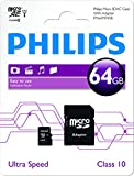 Philips 64 GB Class 10 Micro SDXC Card with Adapter