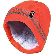 58070a8f39cf1 HEAT HOLDERS - Hombre Alta Visibilidad hi Vis Reflectantes Invierno Polar  termicos Sombrero en Naranja y