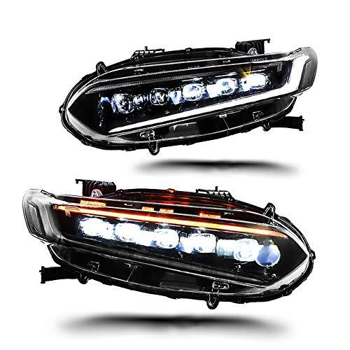 Scheinwerfer-Set 2018-2019 Projektor mit zweifachem Licht, Xenon-HID-Kit, mit LED-Tagfahrlichtern, 2 Stück