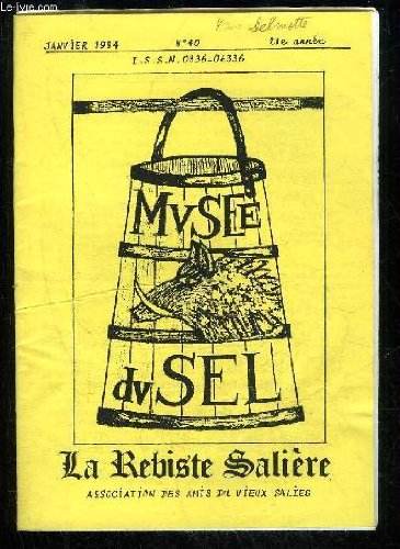 LA REBISTE SALIERE N 40 - 1.Le mot du prsident Andr Castra2.L'anne 1993 par Jeannine et Robert Mousseigne.3.Le journal de guerre d'un gamin de Salies. (1939-1944).Robert Labeyrie.4.L'assemble gnrale de l'anne 1993.5.La coump