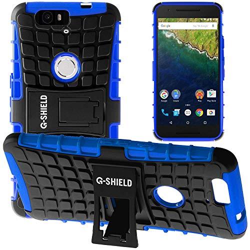 G-Shield Hülle für Google Nexus 6P Stoßfest Schutzhülle mit Ständer - Blau