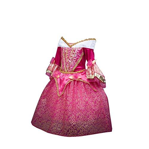 D'amelie Eiskönigin Prinzessin Kinder Kleid Mädchen Kostüm Weihnachten Verkleidung Karneval Rollenspiele Party Halloween (Prinzessin Merida Kostüm)