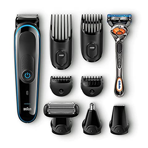 Braun Multigrooming-Set MGK3080, Bartschneider, Trimmer, Bodygroomer, mit Gillette Flexball,