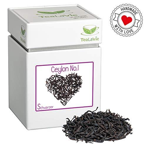 TeaLaVie – Loser Schwarztee | Ceylon No.1 – mild, würzig, fruchtig | Schwarzer-Tee lose in edler Teedose für Teeliebhaber, ideal als Geschenk und Dankeschön | 80g Dose