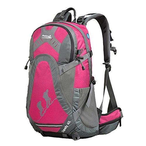 Makino Sport all' aperto campeggio trekking impermeabile zaino Daypacks alpinismo borsa 40L 45L viaggio trekking zaino con la copertura della pioggia Rose