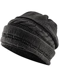 chinkyboo Unisex Oversized Slouch Knit Beanie Hat - 4 Colours