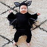 OverDose Damen Kleinkind Newborn Kinder Baby Jungen Mädchen Halloween Cosplay Tanz Rave Nette Weiche Kostüm Strampler Hut Outfits Set Test