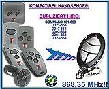 TECKENTRUP command 131 / D302 / D304 / D313 / D 321 / D323 kompatibel handsender, klone fernbedienung, 4-kanal 868,3Mhz fixed code. Top Qualität Kopiergerät!!!