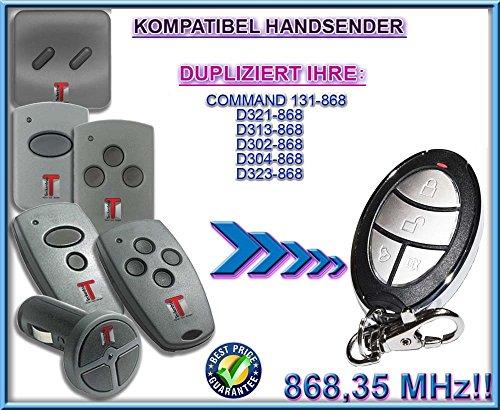 Kanal Top (TECKENTRUP command 131 / D302 / D304 / D313 / D 321 / D323 kompatibel handsender, klone fernbedienung, 4-kanal 868,3Mhz fixed code. Top Qualität Kopiergerät!!!)