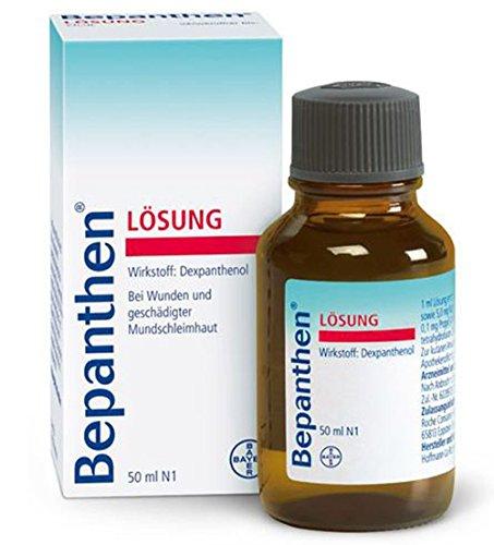 Bepanthen Liquid-Lösung 50ml für HaareBayer Bepanthen Lösung-Bepantol Vitamin B5.Haarpflege für geschädigtes Haar.Shampoo Bomba-Wirkstoff.