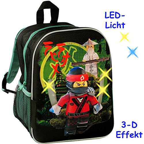 3-D Effekt & LED Licht ! _ Kinder Rucksack -