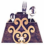 Pyramid Shape Cutlery Stand with Decorat...