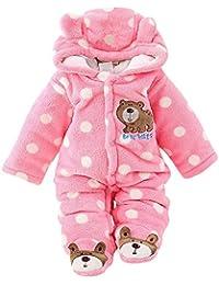 Ulanda-EU Herbst-winter Verdickte Warm Unisex Baby Overall Cartoon Coral Samt Kinderkleidung