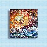 Ölgemälde auf Leinwand, moderne abstrakte Kunst, ursprünglich signiert, modernes Design, Malerei, moderne Gemälde Öl auf Leinwand, Malerei, einzigartig, abstrakt, handgemalt 50x50cm waves at sunset