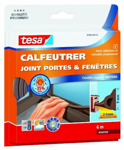 tesa 05390-00114-00Fugen Dichtung für Türen und Fenster-füllt Mittelgroßer Räume 6m x 9mm x 5,5mm