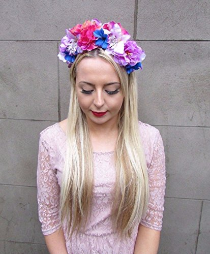 Starcrossed-Boutique-rosa-lila-azul-flor-de-hibisco-orqudea-rosa-corona-para-el-pelo-flores-4338