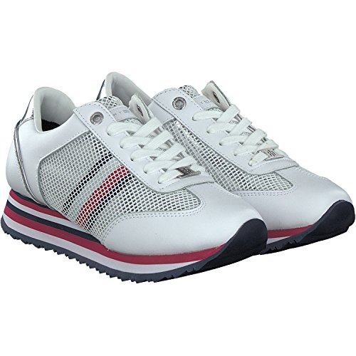 Baskets Tommy Hilfiger Tommy Corporate Baskets, Baskets Basses Athlétiques Blanches (blanc 100)