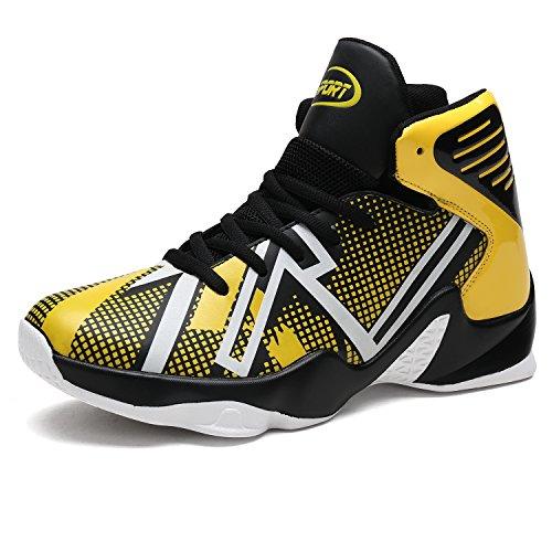 Hommes Sneakers Athlétiques Automne Nouvelle Amorti Chaussures De Basket-ball(orange EU39)