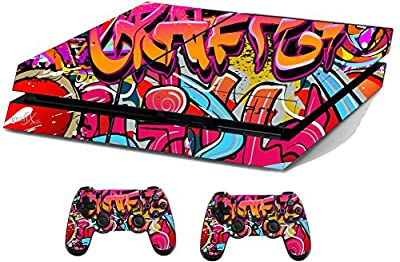 Graffiti Hip Hop Sticker/Skin PS4 Playstation Console & Remote controller stickers, ps4sk13 by the grafix studio