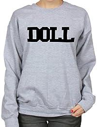 Doll College Varsity Style Womens Hipster Sweatshirt