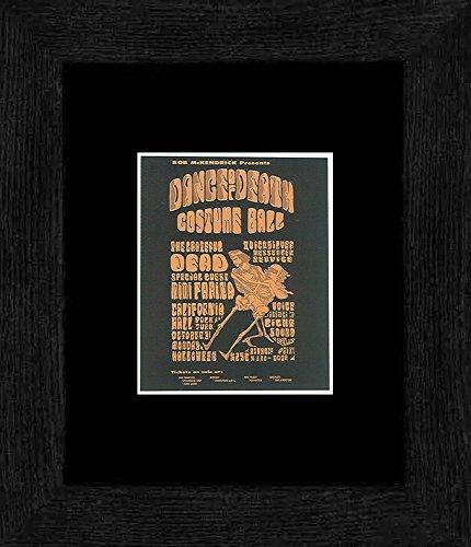 Kostüm Hall Dance - Grateful Dead von Quicksilver Messenger Service-Dance of Death Kostüm Ball California Hall San Francisco 1966gerahmtes Mini Poster-20x 18cm