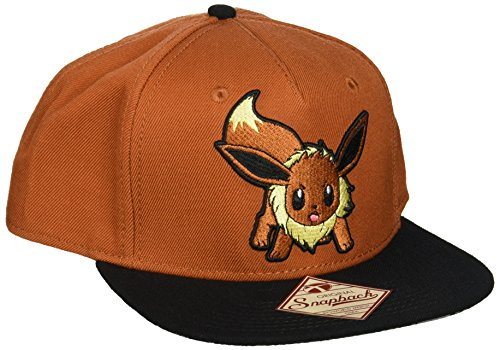 Pokemon-Embroidered-Eevee-Color-Block-Snapback-Gorra-De-Bisbol