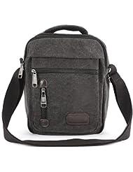 CLE DE TOUS - 4 Colores Bolso Portátil de Lona Bandolera 140cm para Hombre Estilo Militar Mensajero Messenger Bag
