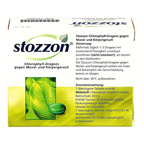 Stozzon Chlorophyll-Dragees, 100 St. Tabletten - 3
