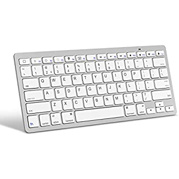 d6667e30ecd OMOTON Ultra-Slim Bluetooth Keyboard for Apple iPad Air, iPad Mini, iPad  Pro and other iOS Devices, Apple Edition, White