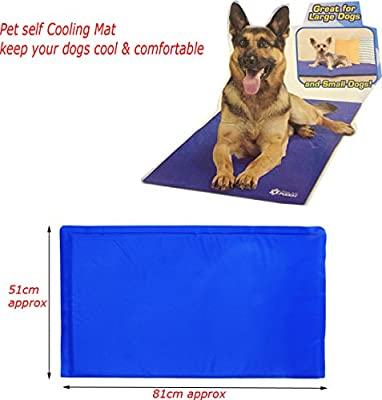 81cm x 51cm Large Cool Mat Self Cooling Gel Mat Pet Dog Cat Heat Relief Non-Toxic Summer