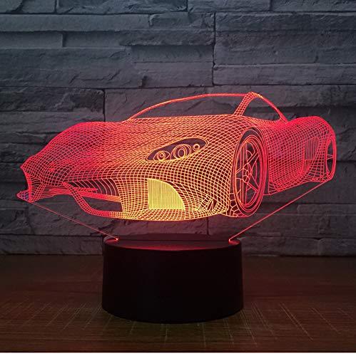 Nachtlichter Geschenk 7 Farben Touch Control Nachtlichter Kreative Geburtstagsgeschenke Benutzerdefinierte Großhandel Drop Verschiffen 3D Lampe Sport 3D Auto Led Licht