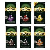 Jacobs Nespresso kompatible Kapseln Vielfaltspaket 6 verschiedene Sorten