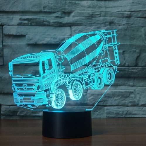7 Colori Che Cambiano Luce Notturna 3D Led Frullatore Auto Da Tavolo Lampada Da Scrivania Comodino Per Bambini Sonno Miscelatore Camion Illuminazione Regali Di Natale Decorv