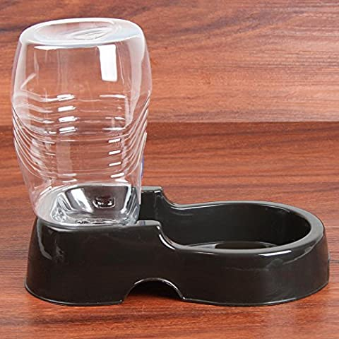 Bobo chien d'eau automatique pour animaux chien chien d'eau automatique distributeur d'eau électrique Cat Fontaine à boire pour chiens et chats , noir , 945ml