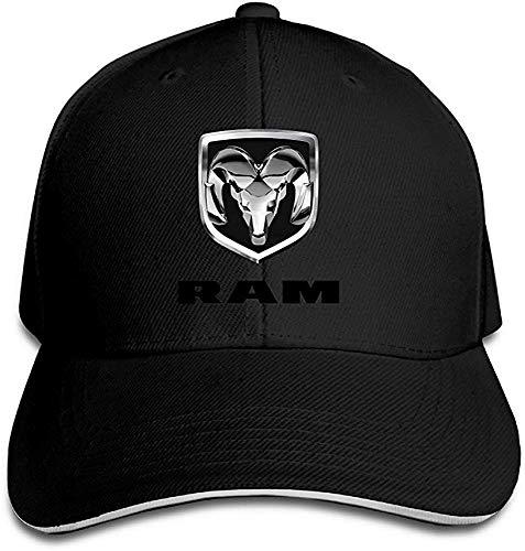 Wdskbg Hittings Bang Dodge Ram Logo Sandwich Baseball Cap Hats Black