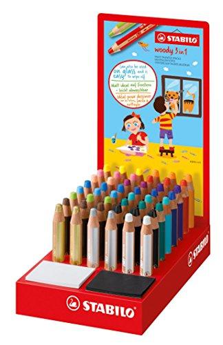 Stabilo 880/48–1woody 3in 1penna, colori assortiti (confezione da 18)