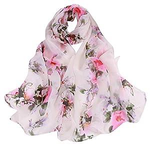 Peach Blossom Print Scarf,BaojunHT Says Captive of Love Unique Maid Shawls
