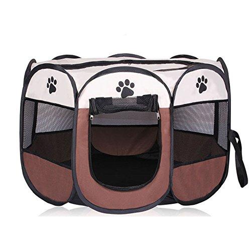 XSQRGG Welpenlaufstall Tierlaufstall Hundehütte Laufstall Für Hunde/Katzenhaus/ Wasserdichtes Zelt Für Kleintiere,001,S