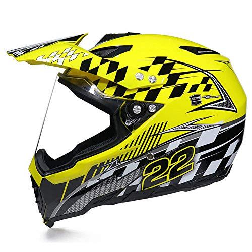 LJ-GJ Outdoor Radfahrer Kostüm- Motocross Helm - Jugend Quad Crash Helm Vollvisier Downhill Dirt Bike ATV Motorradhelm (Jugend Kostüm)