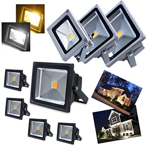 5 Stücke DM Spot LED Fluter 50W wie 500W Leuchtkraft von Halogenleuchtmittel SMD COB LED Flutlichtstrahler NW in tageslichtweiß/neutralweiß (4000-4500K) Scheinwerfer Außenstahler Flutlicht Spotlight IP65 Wasserdicht Außen LED Arbeitsleuchten 230V in schwarzer Gehäuse