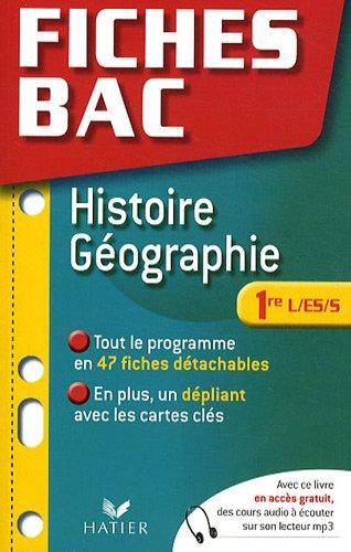 Histoire-géographie 1e L/ES/S
