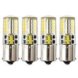 Lampadina Ba15s DC/AC 12V LED Luci, 5W Bianco Freddo 6000K SBC Lampada P21W, 35W Sostituzione per Lampadina Alogena, per interni RV barca illuminazione lampadina del paesaggio (4PACK)