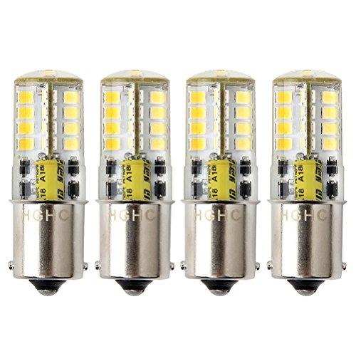 Ampoule P21w Led 1156 ba15s 12v, HRYSPN 5 W Blanc froid 6000 K 500lm Blanc 6000K, Feu Recul,Frein Lampe RV, Bateau, Paysages, etc. (Lot de 4)
