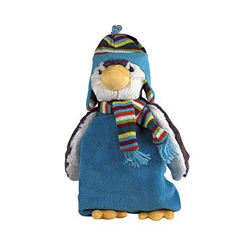Sänger Wärmflasche 800 ml mit Plüschtier-Bezug Wärmekissen Kuscheltier Wärmeflasche, Pinguin Paul