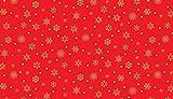 Makower Weihnachts-Musik-Stoffe, 100% Baumwolle, 0,5 m rot