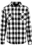 TrendClub100® - Karl Rasur - Holzfällerhemd Baumfällerhemd Flanell Hemd (s-Weiss, XL)